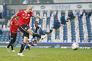 1-1, GOAL scored by QPR Forward Lyndon Dykes (9) during the EFL Sky Bet Championship match between Blackburn Rovers and Queens Park Rangers at Ewood Park, Blackburn, England on 7 November 2020.