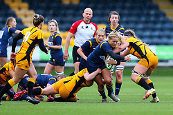 Sarah Nicholas of Worcester Warriors Women tries to breach the Wasps defence - Mandatory by-line: Nick Browning/JMP - 24/10/2020 - RUGBY - Sixways Stadium - Worcester, England - Worcester Warriors Women v Wasps FC Ladies - Allianz Premier 15s