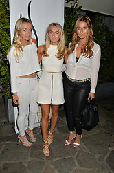Left to right, LILY LUDOVICI GRAY, TIFFANY WATSON and FERNE McCANN at a reception hosted by Tiffany Watson in aid of The Eve Appeal held at The Phene, 9 Phene Street, London on 8th September 2015.