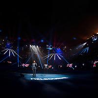 National anthem ahead of the men's final on day fourteen of the 2017 Australian Open at Melbourne Park on January 29, 2017 in Melbourne, Australia.<br /> (Ben Solomon/Tennis Australia)