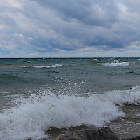"""""""Layers Within the Surf""""<br /> <br /> Beautiful Lake Michigan on a stormy day as the waves roll in!"""