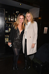 Left to right, Candace McAdams and Malin Jefferies at an exhibition of photographs by Erica Bergsmeds held at The Den, 100 Wardour Street, London England. 19 January 2017.