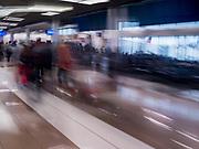 17 FEBRUARY 2020 - ATLANTA, GEORGIA:   Concourse B in Atlanta's Hartsfield–Jackson Atlanta International Airport, the world's busiest airport by passenger count.  PHOTO BY JACK KURTZ