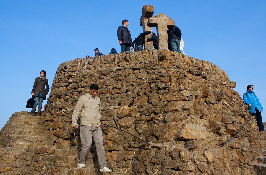 Excursion of the Spanish class group to Park Güell.