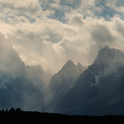Clearing storm over the Teton Range in Grand Teton National Park, WY.