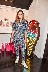 Charlotte de Carle at the Sunkissed Cosmetics Launch,  15 Bateman Street, Soho, London England. 17 January 2018.