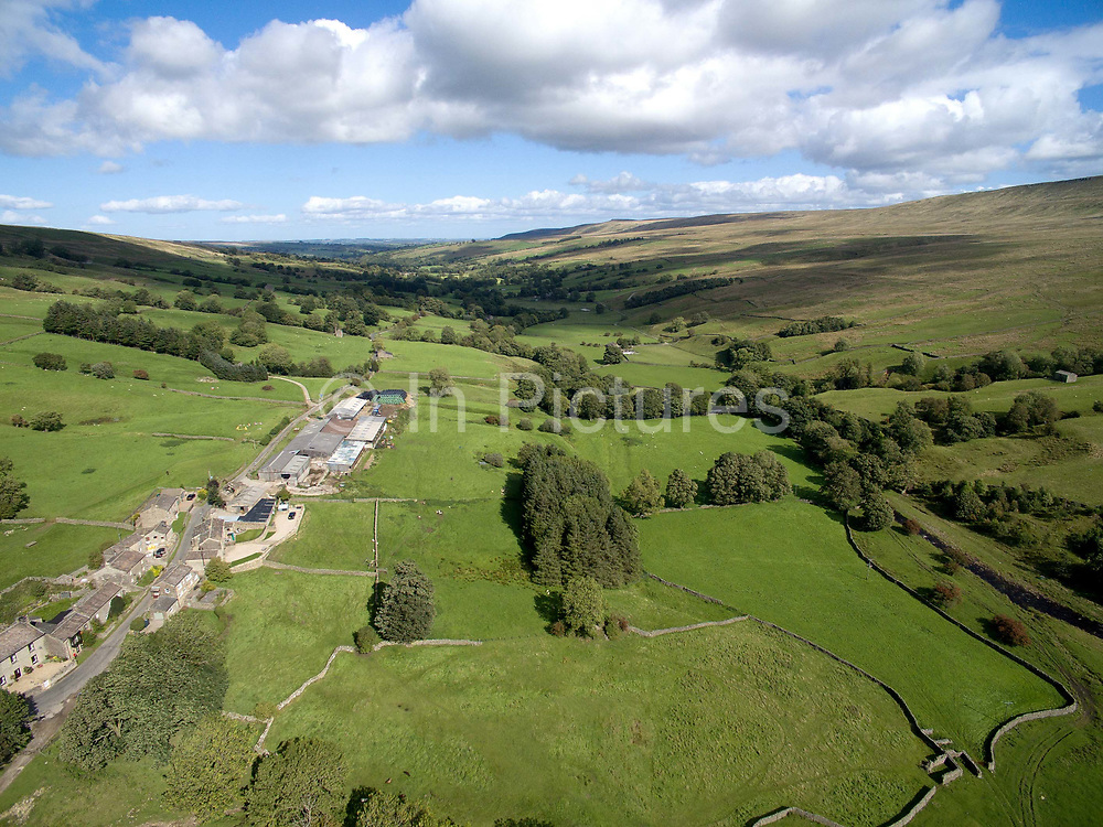 Aerial view of Coverdale in The Yorkshire Dales on 12th September 2018