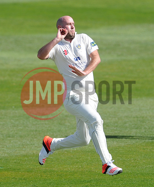 Durham's Chris Rushworth - Photo mandatory by-line: Harry Trump/JMP - Mobile: 07966 386802 - 12/04/15 - SPORT - CRICKET - LVCC County Championship - Day 1 - Somerset v Durham - The County Ground, Taunton, England.