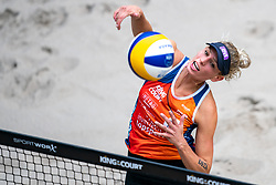 Sanne Keizerin action during the last day of the beach volleyball event King of the Court at Jaarbeursplein on September 12, 2020 in Utrecht.