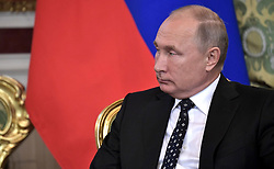 November 2, 2018 - Moscow, Russia - November 2, 2018. - Russia, Moscow. - Russian President Vladimir Putin during a meeting with President of Cuba Miguel Diaz-Canel Bermudez. (Credit Image: © Russian Look via ZUMA Wire)