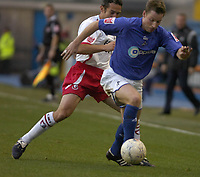 Photo: Matt Bright/Sportsbeat Images.<br /> Millwall v AFC Bournemouth. The FA Cup. 01/12/2007.<br /> Neil Harris of Millwall & Paul Telfer of Bournemouth