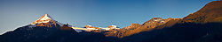 24.09.2010, Kaprun, AUT, Kitzsteinhorn Panorama, im Bild der Gletscher Kitzsteinhorn und das dazugehörige Skigebiet über Kaprun im Pingau/Salzburg Land in den frühen Morgenstunden, EXPA Pictures © 2010, PhotoCredit: EXPA/ J. Feichter