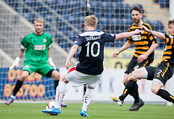 Falkirk's Craig Sibbald shoots.<br /> Falkirk 3 v 1 Alloa Athletic, Scottish Championship game played today at The Falkirk Stadium.<br /> © Michael Schofield.