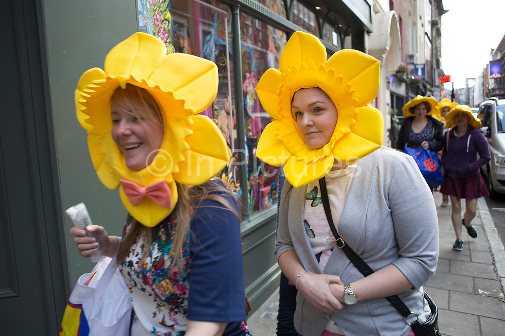 Hen party friends with daffodil constumes in London, United Kingdom. A bachelorette party, hen party, hen night or hen do, is a party held for a woman who is about to get married. The terms hen party, hen do or hen night are common in the UK.