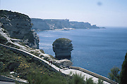Korsika, utsikt fra Bonifacio..dias Sardinia, Italia.