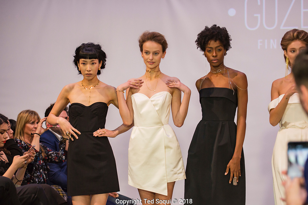 Jewelry by Guzema.<br /> LA Fashion Week, LAFW, held at the Neuehouse in Hollywood.