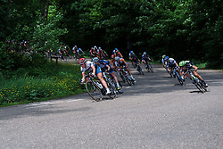 Lisa Klein leads the front group through a sweeping bend at Boels Hills Classic 2016. A 131km road race from Sittard to Berg en Terblijt, Netherlands on 27th May 2016.