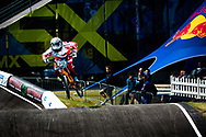 #373 (BLANC Renaud) SUI at the UCI BMX Supercross World Cup in Papendal, Netherlands.