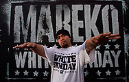 Mareko -Mark Sagapolutel, New Zealand rapper and hip hop artist of Samoan descent at Hunters Corner, Papatoetoe.<br /> 2003 © New Zealand Herald A Division of NZME Publishing Limited.<br /> No Reproduction without prior written permission. Contact www.newspix.co.nz to licence photograph.
