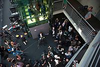 DEU, Deutschland, Germany, Berlin, 29.07.2020: Deutscher Bundestag, Sondersitzung des Finanzausschusses zum Skandal bei der Wirecard AG. Dr. Florian Toncar (MdB, FDP), finanzpolitischer Sprecher der FDP-Bundestagsfraktion, bei einem Pressestatement.