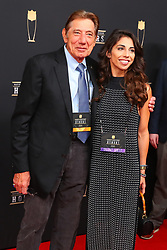 February 2, 2019 - Atlanta, GA, U.S. - ATLANTA, GA - FEBRUARY 02:  Joe Namath and his daughter pose for photos on the red carpet at the NFL Honors on February 2, 2019 at the Fox Theatre in Atlanta, GA. (Photo by Rich Graessle/Icon Sportswire) (Credit Image: © Rich Graessle/Icon SMI via ZUMA Press)