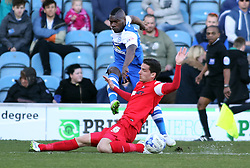 Peterborough United's Aaron McLean in action with Leyton Orient's Mathieu Baudry - Photo mandatory by-line: Joe Dent/JMP - Mobile: 07966 386802 - 07/03/2015 - SPORT - Football - Peterborough - ABAX Stadium - Peterborough United v Leyton Orient - Sky Bet League One