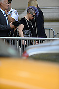 Sept. 7, 2014 - New York City, NY, United States - <br /> <br /> Joan Rivers Funeral<br /> <br /> KELLY OSBOURNE, left, and GIULIANA RANCIC, former co-hosts on 'Fashion Police,' arrive to attend the funeral of Joan Rivers at Temple Emanu-el. Family, friends, comedians and celebrities turned out to remember Rivers, who died Thursday at 81.<br /> ©Exclusivepix