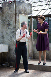 Pictured:  Bard in the Botanics . The latest production features a version of Macbeth set in 1950s, directed by Gordon Barr. Kirk Bage (Macbeth) and Nicole Cooper (Lady Macbeth) have blood on their hands as they perform the murder of Duncan scene on the main stage Karen Gordon  (c) Edinburgh Elite media Date<br /><br /><br />(c) Karen Gordon   Edinburgh Elite media