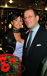 Spice Girl VICTORIA BECKHAM and owner of OK magazine RICHARD DESMOND,  at a reception in London on 10th November 1999.MYX 20