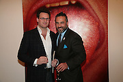 Matt Langton and Marc Richard Moeller, Other,Riyas Komu and Peter Drake. - VIP  launch of Aicon. London's largest contemporary Indian art gallery. Heddon st. and afterwards ant Momo.15 Marc h 2007.  -DO NOT ARCHIVE-© Copyright Photograph by Dafydd Jones. 248 Clapham Rd. London SW9 0PZ. Tel 0207 820 0771. www.dafjones.com.