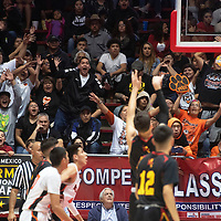 Gallup Bengals fans try to distract an Espanola Valley player as he shoots a free throw Wednesday night at Dreamstyle Arena during their 4A boys NMAA State Basketball quarterfinal playoff game in Albuquerque.