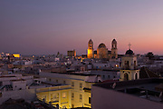 Sunset at La Viña quarter in Cádiz, Andalucía, Spain.