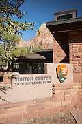 Zion National Park Visitor's centre, on the Pa'rus Trail, Utah, United States of America
