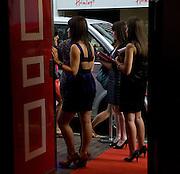 PR GIRLS AT THE DOOR, Elizabeth Arden's 'Eight Hour' party. Kingly St. London. 7 August 2008. *** Local Caption *** -DO NOT ARCHIVE-© Copyright Photograph by Dafydd Jones. 248 Clapham Rd. London SW9 0PZ. Tel 0207 820 0771. www.dafjones.com.