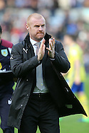 Burnley Manager Sean Dyche makes his way to the dugout. Premier League match, Burnley v Everton at Turf Moor in Burnley , Lancs on Saturday 22nd October 2016.<br /> pic by Chris Stading, Andrew Orchard sports photography.