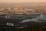 Israel, Bay of Haifa, general view of the industrial area November 2007