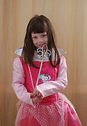 Israel, Purim A young Girl of 5 dressed up as a fairy Model Release Available