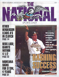 Jose Canseco, The National Sports Daily, 1990