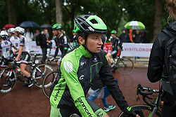 Malgorzata Jasinska (POL) of Cylance Pro Cycling cools down after the Prudential Ride London Classique - a 66 km road race, starting and finishing in London on July 29, 2017, in London, United Kingdom. (Photo by Balint Hamvas/Velofocus.com)