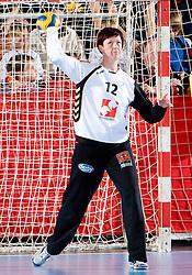 Goalkeeper of Krim Sergeja Stefanisin of Krim at handball match of Round 3 of Champions League between RK Krim Mercator and Hypo Niederosterreich, on November 8, 2009, in Arena Kodeljevo, Ljubljana, Slovenia.  Krim won 35:24. (Photo by Vid Ponikvar / Sportida)