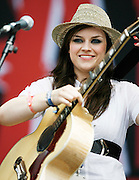T In The Park  2008..13/07/08.. Scot's rocker Amy MacDonald wow's the crowd during the Third and final day of this years, T IN THE PARK  Scotland's Premier Music Festival now in it's 14th year, and still going strong since 1994. The first 3 years were held at Strathclyde Country Park, but in 1997 moved to Balado near Kinross . At This years T in the Park, Balado - By Kinross today...Picture by Mark Davison / PLPA