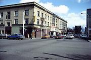 CS02273. SW Twelfth & Jefferson. Jefferson Theater, Jazz Quarry. April 1981