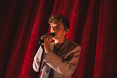 South African-born Australian singer Troye Sivan performing at the Hammersmith Apollo - 28 Feb 2019
