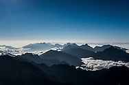 Landscape from the summit of Mt. Fansipan, Lao Cai Province, Vietnam, Southeast Asia