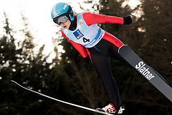 February 7, 2019 - Ljubno, Savinjska, Slovenia - Andreea Diana Trambitas of Romania competes on qualification day of the FIS Ski Jumping World Cup Ladies Ljubno on February 7, 2019 in Ljubno, Slovenia. (Credit Image: © Rok Rakun/Pacific Press via ZUMA Wire)