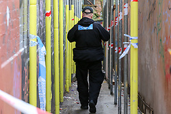 © Licensed to London News Pictures. 07/11/2018. London, UK. Police Officers on Lithos Road, in West Hampstead. A man in his teens was stabbed on Billy Fury Way off Lithos Road in West Hampstead on Tuesday evening. Photo credit: Dinendra Haria/LNP
