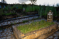 Robber's Grave at the graveyard in Pilgrim's Rest, an old Gold mining town in South Africa declared a national monument.