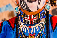 Zuni Indian wearing regalia, Indian Pueblo Culture Center, Albuquerque, New Mexico USA.