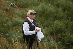 Great Britain's Dame Laura Davies walks off the tee at the 8th hole during her semi final match against Sweden this morning during day eleven of the 2018 European Championships at Gleneagles PGA Centenary Course.