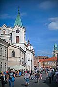 Krakowskie Przedmieście i kościół Św. Ducha, Lublin, stare miasto.